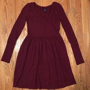 Burgundy babydoll soft dress